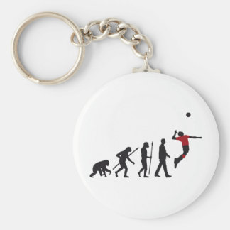 evolution volleyball more player basic round button key ring
