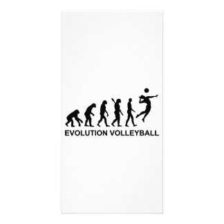 Evolution Volleyball Photo Greeting Card