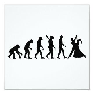 Evolution Waltz 13 Cm X 13 Cm Square Invitation Card