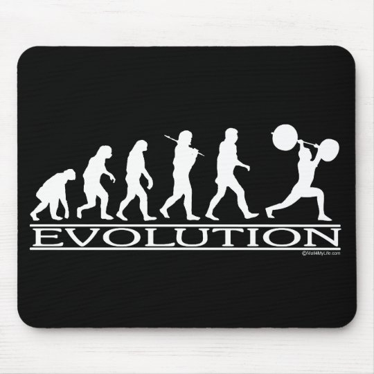 Evolution - Weight Lifter Mouse Pad