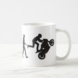 Evolution-Wheelie Basic White Mug