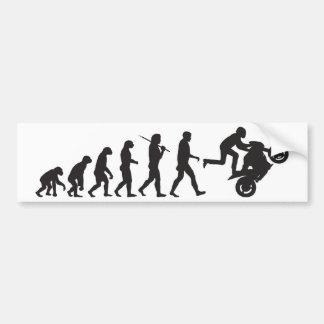 Evolution - Wheelie Bumper Stickers