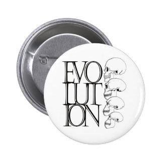 Evolution (White) 6 Cm Round Badge
