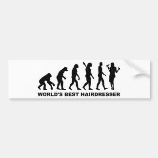 Evolution World s Best Hairdresser Bumper Sticker