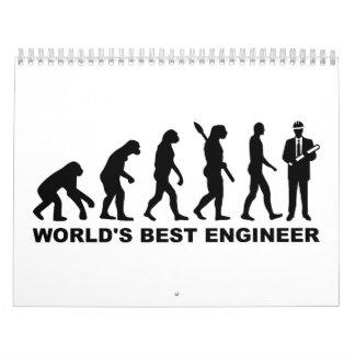 Evolution World's Best Engineer Wall Calendars