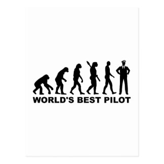Evolution world's best Pilot Postcard