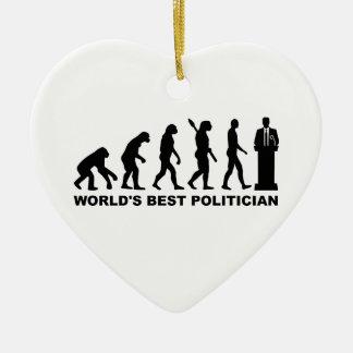 Evolution World's Best Politician Christmas Ornaments