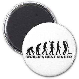 Evolution World's Best Singer Fridge Magnet