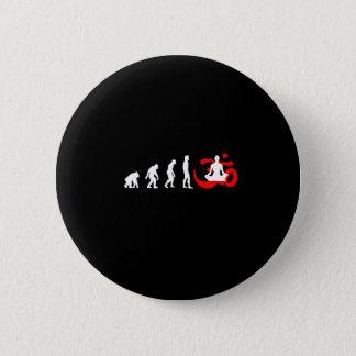 Evolution Yoga Buddhist Meditation 6 Cm Round Badge