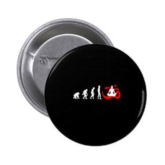 Evolution Yoga Buddhist Meditation Pinback Button
