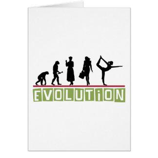 Evolution Yoga Gift Greeting Card