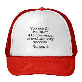 Evolutionary Success Motivational Quote Cap