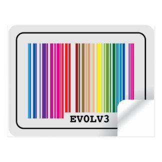 evolve barcode postcard