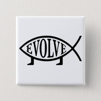 Evolve Fish 15 Cm Square Badge