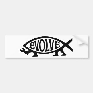 Evolve Fish Bumper Sticker