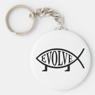Evolve Fish Key Ring