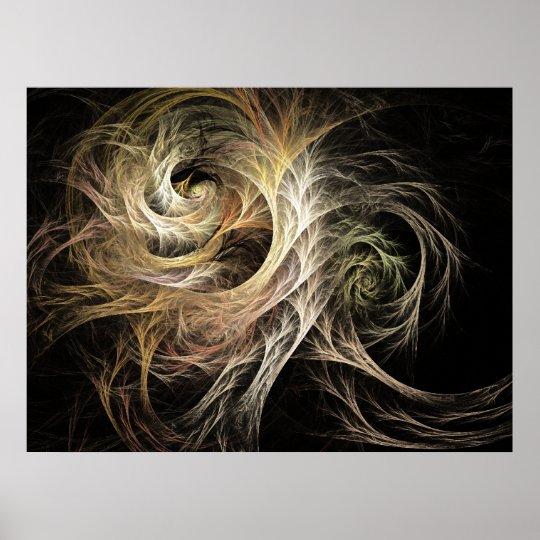 Evolve Flame Fractal Poster