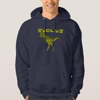 EVOLVE, funny Hoodie design dinosaurs Neanderthal