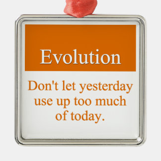 Evolve past yesterday Silver-Colored square decoration