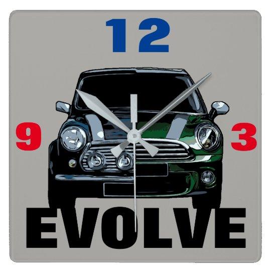 EVOLVE SQUARE WALL CLOCK