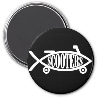Evolve to Scooters 7.5 Cm Round Magnet