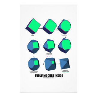 Evolving Cube Inside (Math & Geometry) Stationery Design