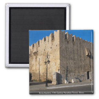 Evvia-Karistos, 13th Century Venetian Tower, Greec Magnet