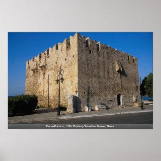 Evvia-Karistos, 13th Century Venetian Tower, Greec Posters