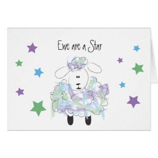 Ewe are a Star - Congratulations Card