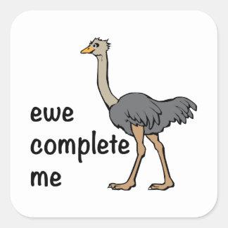 Ewe Complete Me Square Sticker