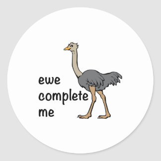 Ewe Complete Me Round Stickers
