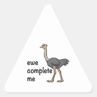 Ewe Complete Me Triangle Sticker