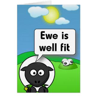Ewe is well fit card