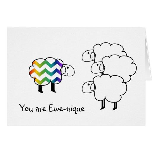 Ewenique Unique I Love You Card