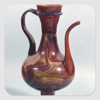 Ewer in imitation chalcedony, Venetian, c.1500 Square Sticker
