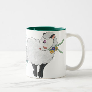 Ewe's not Fat, Ewe's Fluffy! Two-Tone Coffee Mug