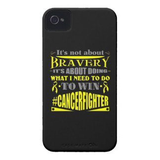 Ewing Sarcoma Cancer Not About Bravery iPhone 4 Cover