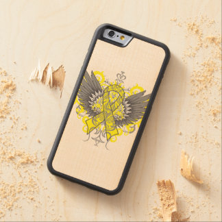 Ewing Sarcoma Cool Awareness Wings Carved® Maple iPhone 6 Bumper