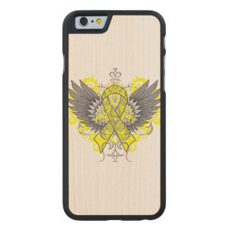 Ewing Sarcoma Cool Awareness Wings Carved® Maple iPhone 6 Case