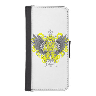 Ewing Sarcoma Cool Awareness Wings Phone Wallet Case