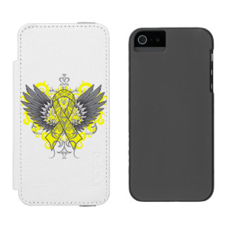 Ewing Sarcoma Cool Awareness Wings Incipio Watson™ iPhone 5 Wallet Case