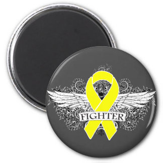 Ewing Sarcoma Fighter Wings 6 Cm Round Magnet