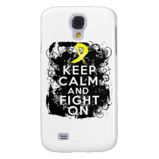 Ewing Sarcoma Keep Calm and Fight On Samsung Galaxy S4 Cases