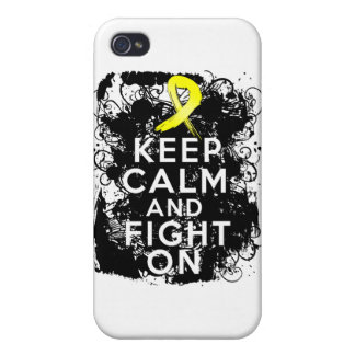 Ewing Sarcoma Keep Calm and Fight On Covers For iPhone 4