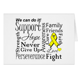 Ewing Sarcoma Supportive Words Greeting Cards