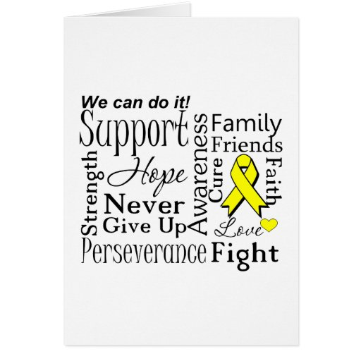 Ewing Sarcoma Supportive Words Card