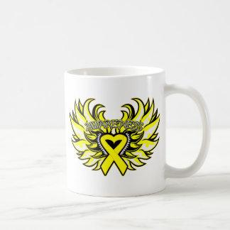 Ewings Sarcoma Awareness Heart Wings.png Basic White Mug