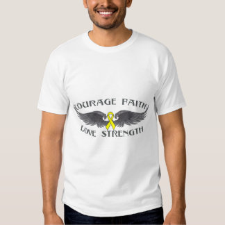 Ewings Sarcoma Courage Faith Wings T Shirt