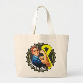 Ewings Sarcoma Fighter Gal Jumbo Tote Bag