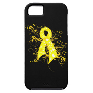 Ewings Sarcoma Floral Swirls Ribbon iPhone 5 Cover